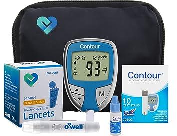 amazon com contour diabetes blood glucose testing kit contour rh amazon com Contour Diabetes Monitor ascensia contour blood glucose meter instructions