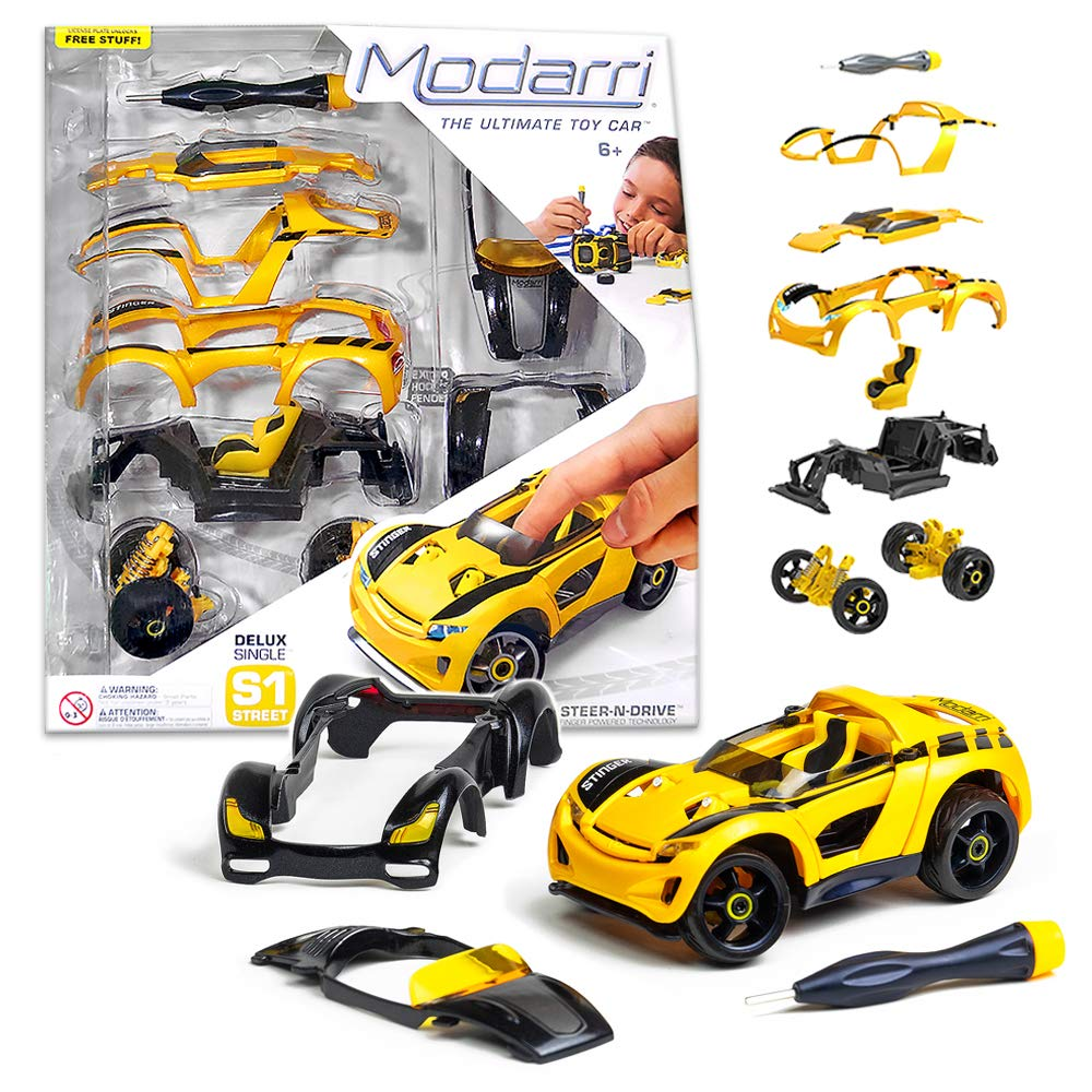 Make Your Own Car >> Modarri Delux S1 Stinger Car Build Your Car Kit Toy Set Ultimate Toy Car Make Your Own Car Toy For Thousands Of Designs Real Steering And
