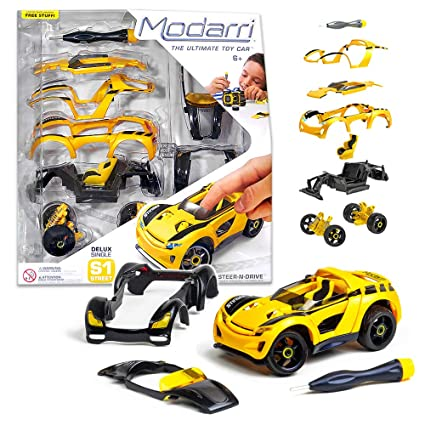 Build Your Own Car >> Modarri Delux S1 Stinger Car Build Your Car Kit Toy Set Ultimate Toy Car Make Your Own Car Toy For Thousands Of Designs Real Steering And