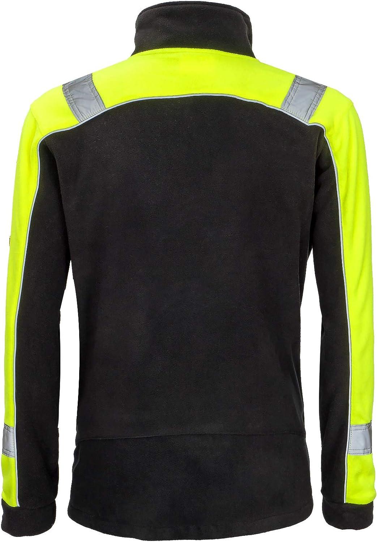 URG-POL-C JPMS Berufsjacke Vliesjacke Vliesarbeitsjacke Arbeitsjacke Herren Vlies schwarz-gelb