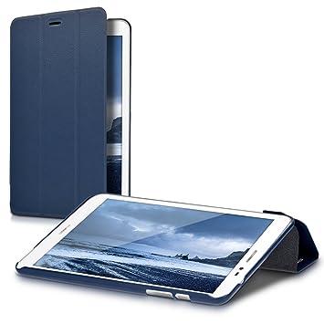kwmobile Funda compatible con Huawei MediaPad T1 8.0 / Honor T1 - Carcasa de [cuero sintético] con [soporte] y cierre de libro para tablet