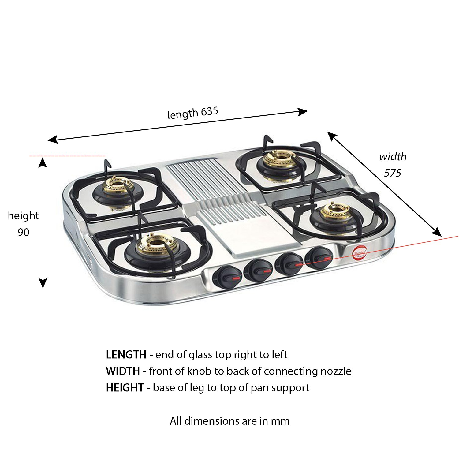 Buy Prestige Stainless Steel 4 Burner Gas Stove Silver Online At Low Prices In India Amazon In