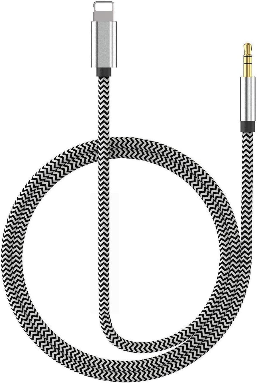 Nylon Aux Cable Compatible with iPhone11// iPhone XR//XS//XS Max//X//8//8Plus//7//7 Plus Lightning to 3.5mm Male Aux Cable,aux Cord for iPhone for car Support iOS 13 Apple MFi Certified