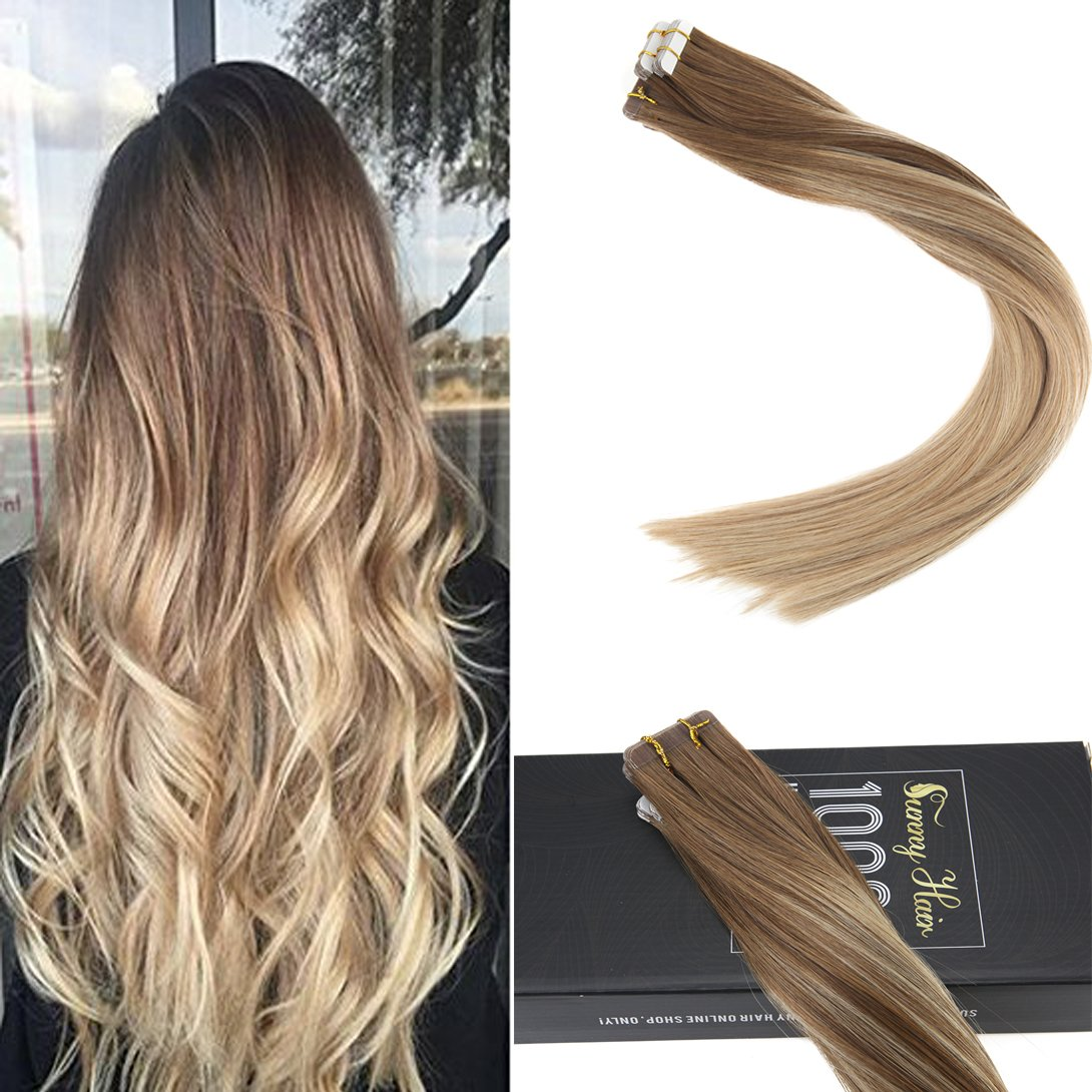 Amazon Sunny 14inch Remy Tape In Hair Extensions Human Hair