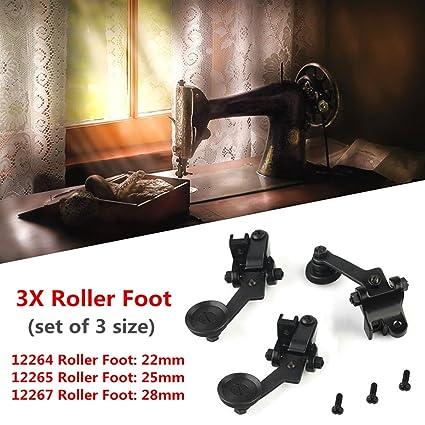 KINGSO 3pcs rodillo pie piel pie prensatelas para máquina de coser prensatelas pie Set Tailor suministros