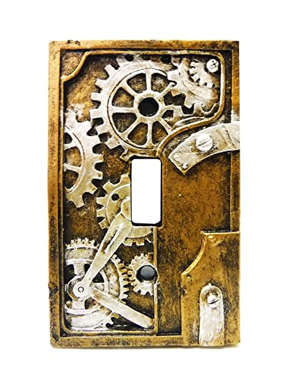 Amazoncom 425 Inch Resin Steampunk Light Switch Plate Cover Gray