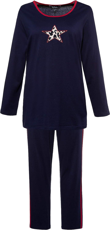 Ulla Popken Damen Pyjama Zweiteiliger Schlafanzug
