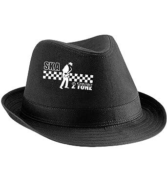 Ska 2 Tone Trilby Hat - Black - Large   X-Large  Amazon.co.uk  Clothing fab7f715796