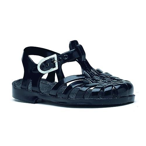 Noir Plastique Sandales Enfant Enfant Sandales En En n0wP8Ok