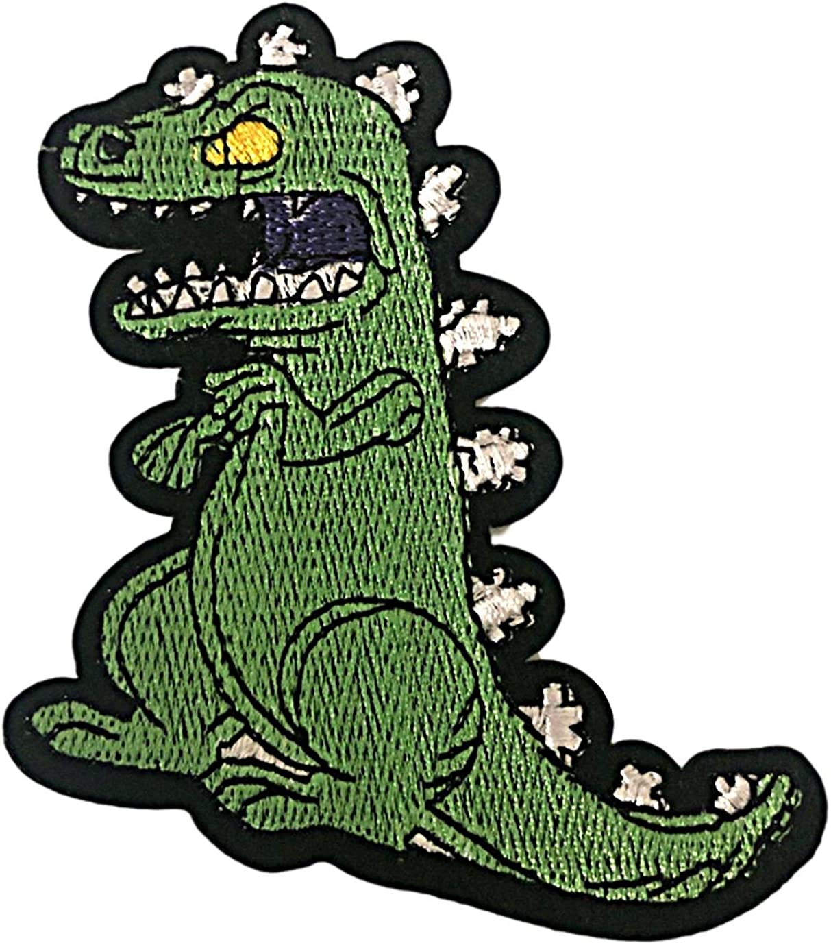 """Reptar from The Rugrats TV Series Cartoon 4.25/"""" Tall Embroidered Patch"""