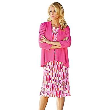 dbd08680a6f2b Blair Women s Plus Size Waterfall Jacket Dress - 16W Pink at Amazon ...