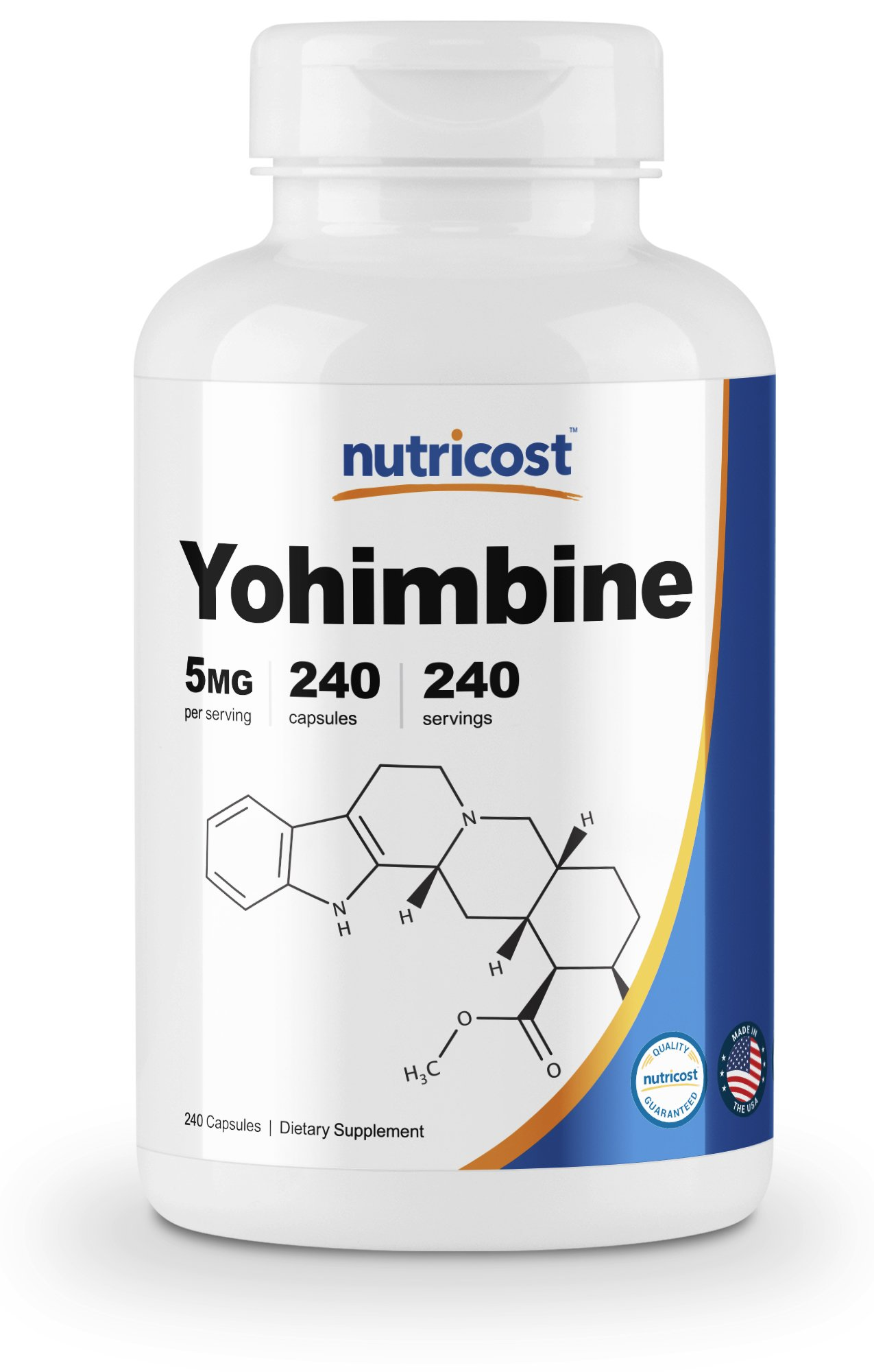 Nutricost Yohimbine HCl 5mg, 240 Capsules Extra Strength by Nutricost (Image #1)
