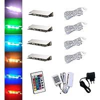 ACCE LED RGB glasrandverlichting glasvloerverlichting vitrineverlichting clip glas hoogste kwaliteit spiegel roestvrij…