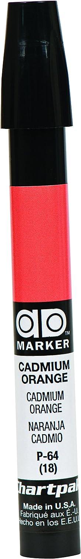 The Original Chartpak AD Marker, Tri-Nib, Cadmium Orange, 1 Each (P64)