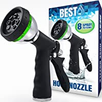 Bon Best Garden Hose Nozzle (HIGH PRESSURE TECHNOLOGY)   8 Way Spray Pattern    Jet