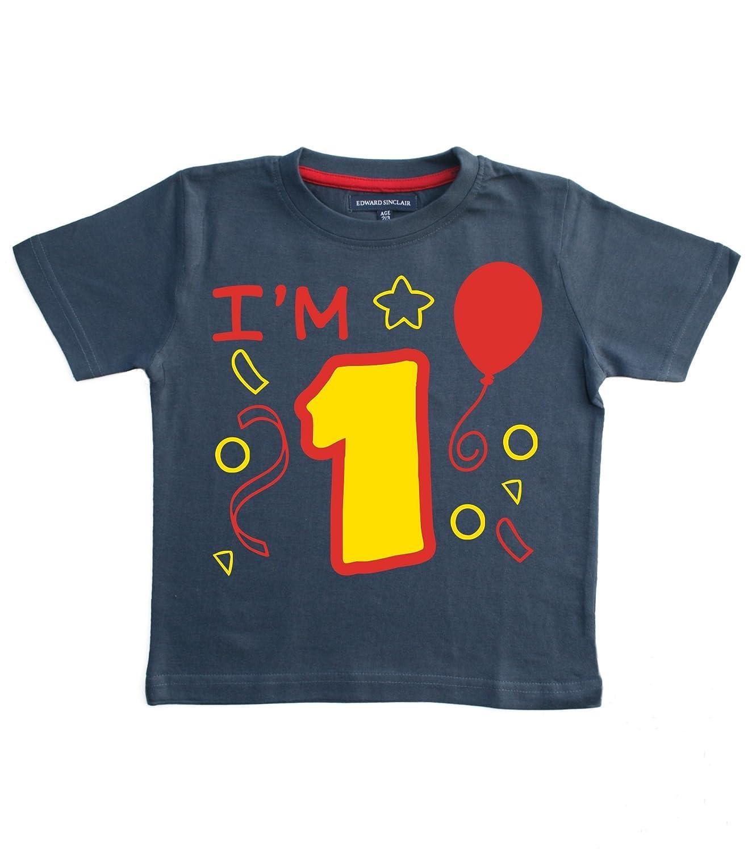 Edward Sinclair Baby Boys' I'm 1 1st Birthday Tshirt