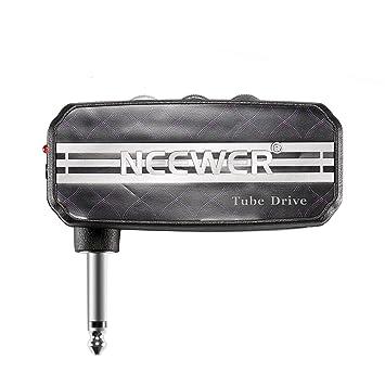 Neewer® Mini Bolsillo Guitarra Amp Amplificador de Auriculares Accionamiento de Tubo con 2 Pilas AAA