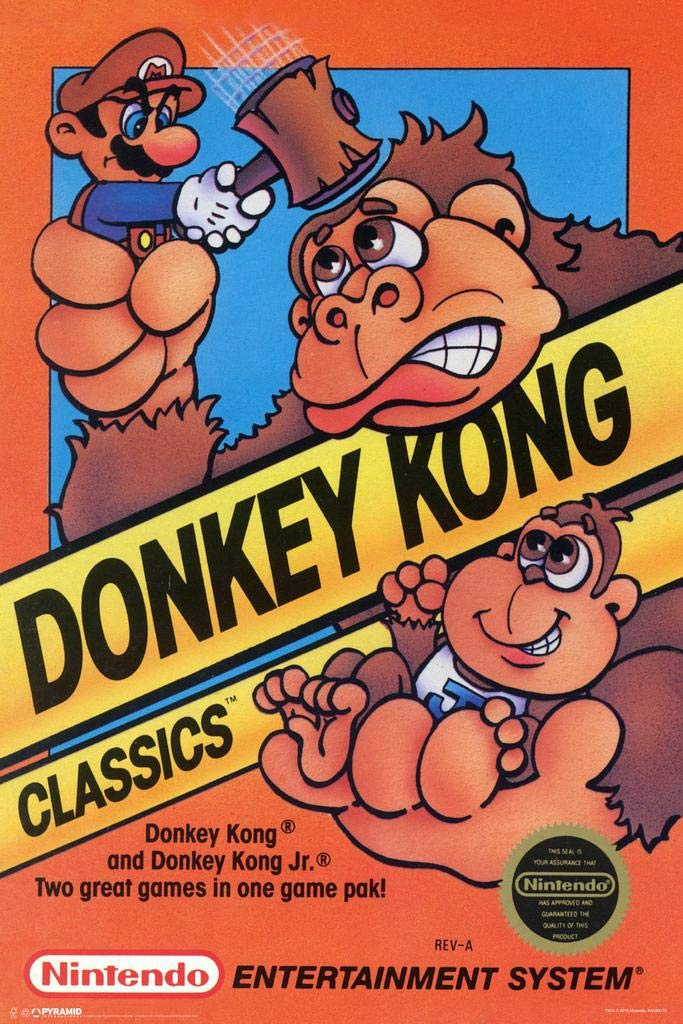 Pyramid America Donkey Kong Classics Framed Poster 14x20 inch