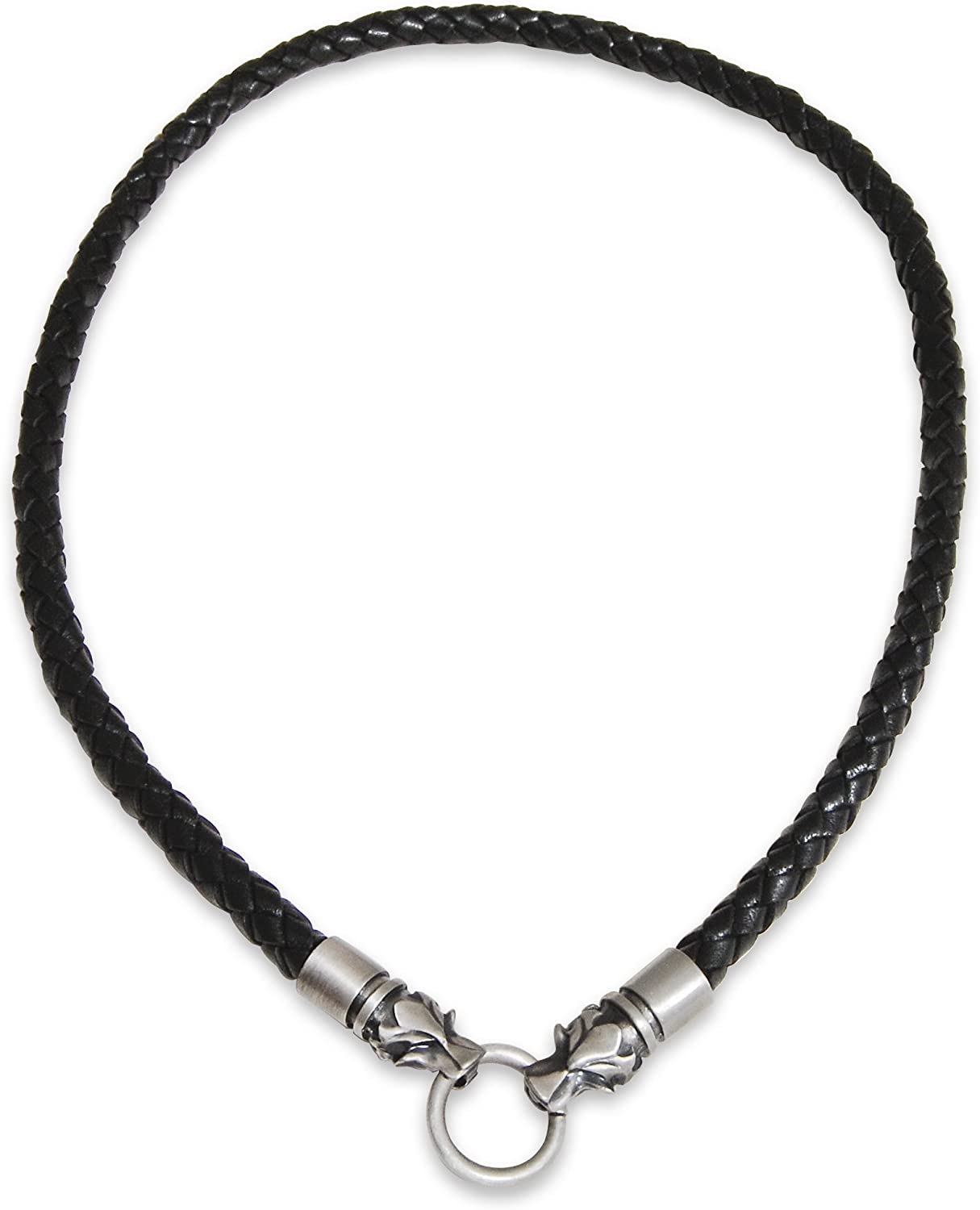 ~Custom Made~ ZODIAC Sign Charm 4mm Braided Synthetic LEATHER CHOKER NECKLACE
