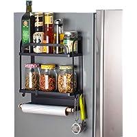 LWBIGHOME Magnetic Fridge Spice Rack Organizer Fridge Side Racks Refrigerator Spice Shelf Storage Spices Holder Jars…