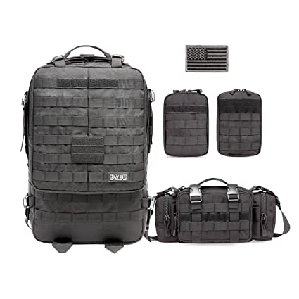 Nice Utility 3p Tactical Duffle Waist Bags Tactical Molle Assault Backpack Multifunction Pockets Small Edc For Camping Hiking Soft And Light City Jogging Bags