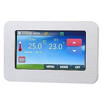 Unterputz Regler f/ür elektrische Fu/ßboden-Heizung Digital Thermostat C16