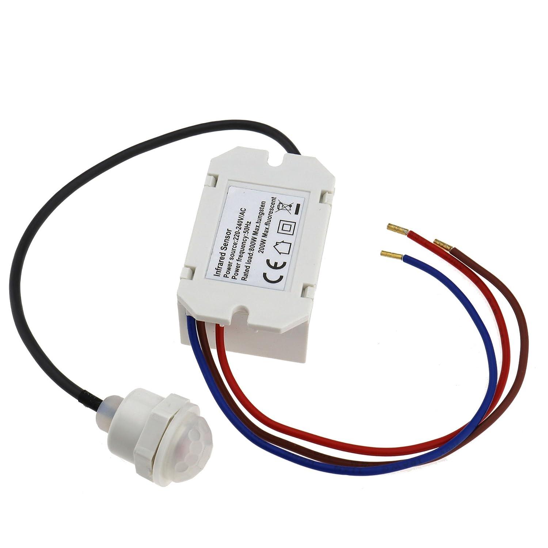 Amazon.com : Recessed PIR Sensor Detector Ceiling Occupancy Motion Light Switch 360 Degree : Camera & Photo