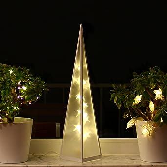 Weihnachtsdeko Innenbereich.3d Weihnachtsbeleuchtung 60cm Hologramm Pyramide Weihnachten Weihnachtsdeko Fenster Led Innen Lichtpyramide Lichtkegel Leuchtpyramide 60cm
