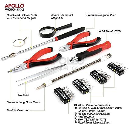 Apollo Kit de 31 piezas con Mini alicates de precisión, herramienta ...