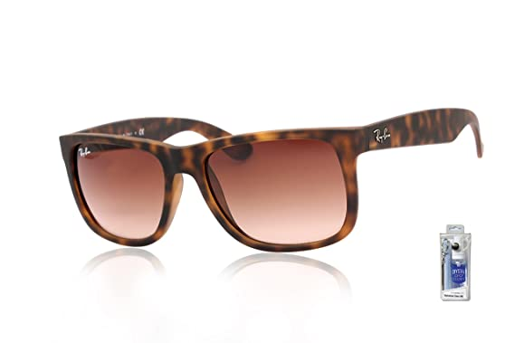 Image Unavailable. Image not available for. Color  Ray Ban RB4165 710 13  51mm Rubber Light Havana Justin Sunglasses ... 7a3b5c9eb6