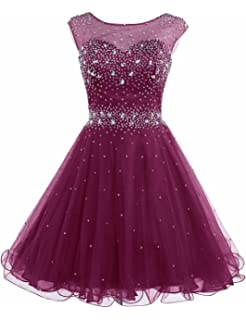 Sarahbridal Womens Short Tulle Beading Homecoming Dresses Prom Party Gowns