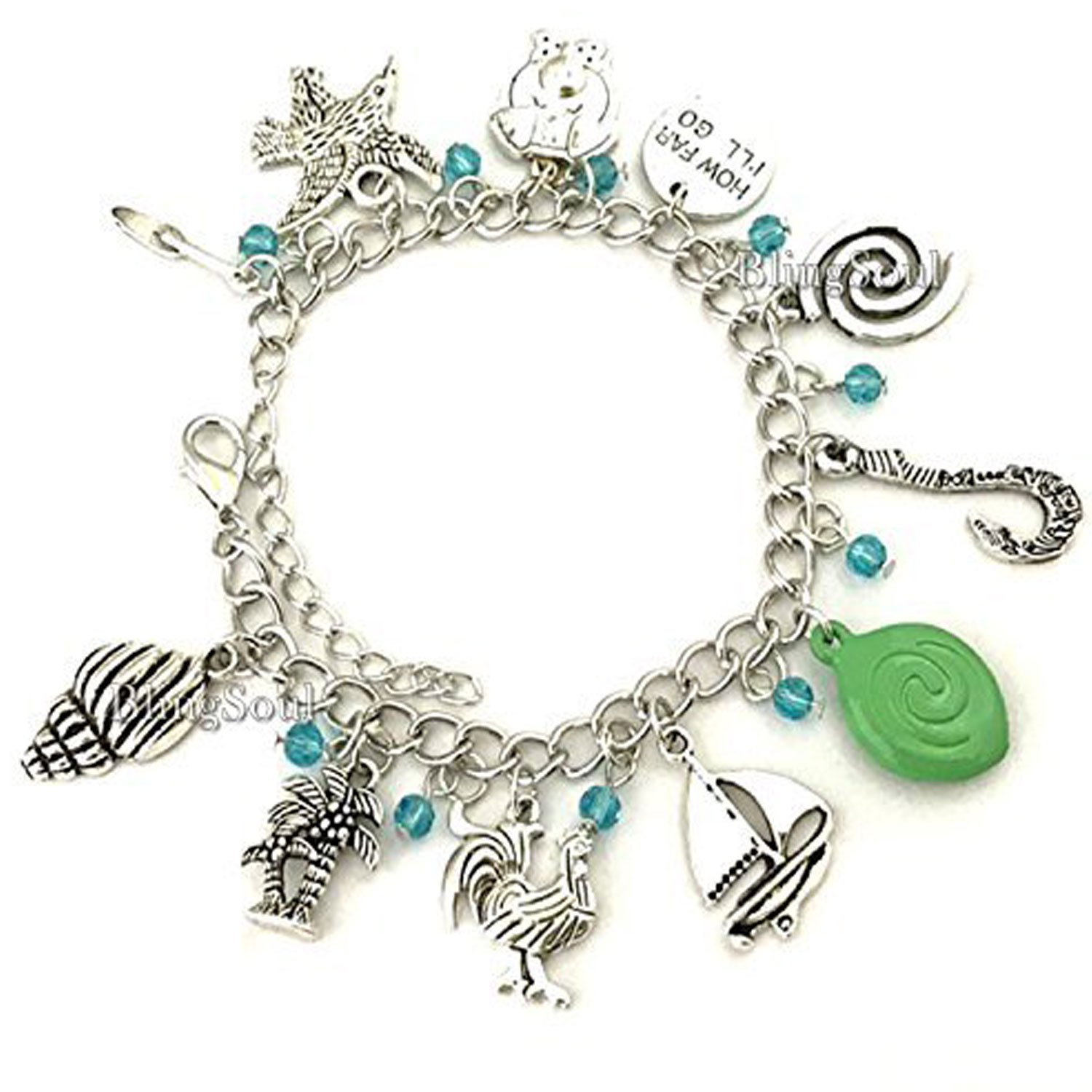 BlingSoul Maui Moana Charm Bracelet - Maui Hook Jewelry Moana Gift Merchandise for Women by BlingSoul (Image #3)