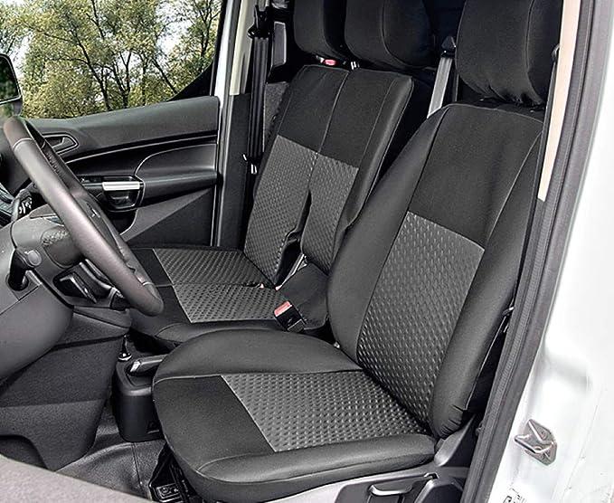 Sitzbezüge Tailor Made Passgenau Geeignet Für Ford Transit Connect Ii Ab 2014 Ideale Anppasung Schwarz Maßgefertigt Polstermaterial Auto