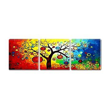 Malen Nach Zahlen Triptychon Baum Vier Jahreszeiten Amazonde