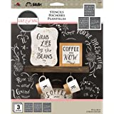FolkArt Mixed Fonts Lily and Val Stencil Pack