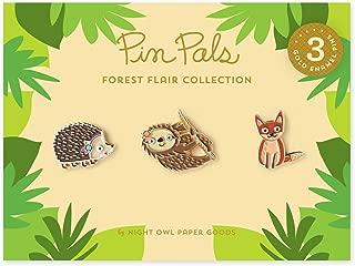 product image for Night Owl Paper Goods Gift Set Hedgehog/Fox/Sloth Enamel Pin (Set of 3)