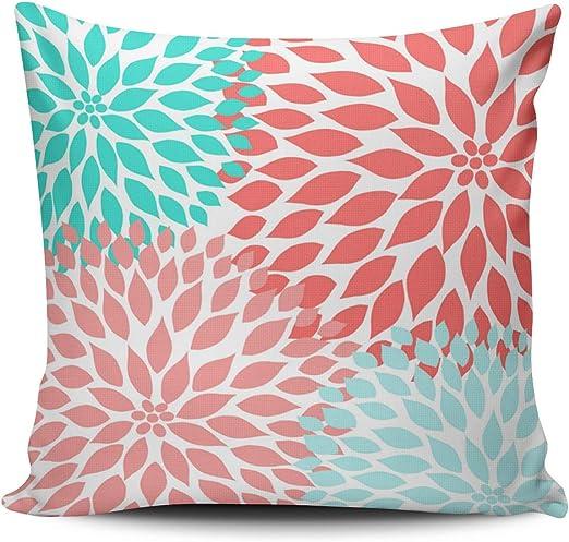 Amazon.com: XIUBA Throw Pillow Covers Case Aqua Turquoise Pink