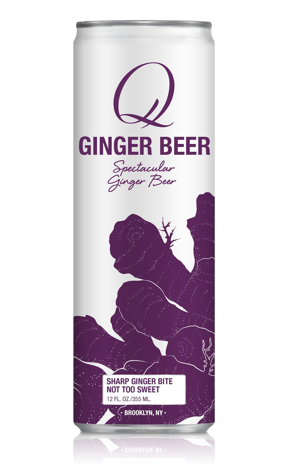 Q Mixers, Q Ginger Beer Spectacular Ginger Beer, 12 Fl Oz Slim Can (Pack of 12) by Q Mixers (Image #1)