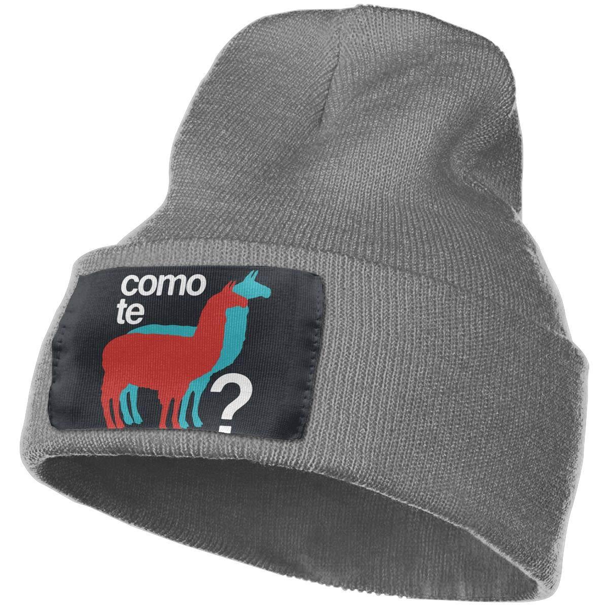 Como Te Llamas Men /& Women Winter Warm Wool Cap