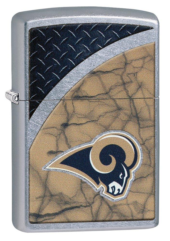 Zippo NFL La Rams Street Chrome Pocket Lighter by Zippo
