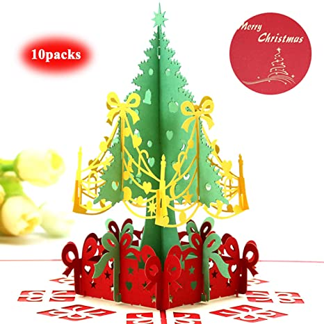Amazon Com Christmas Greeting Cards Gifts Beentop 3d Pop