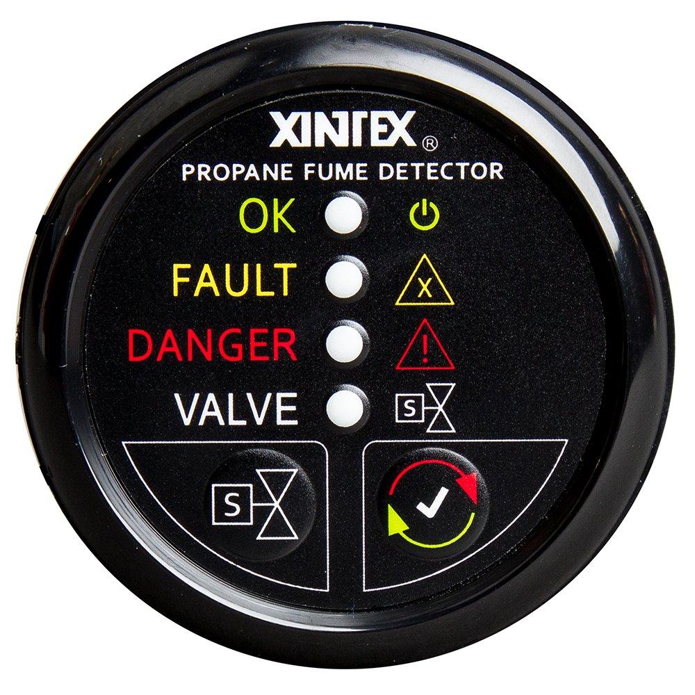 No Solenoid Valve Fireboy-Xintex Xintex Propane Fume Detector w//Automatic Shut-Off /& Plastic Sensor Black Bezel Display