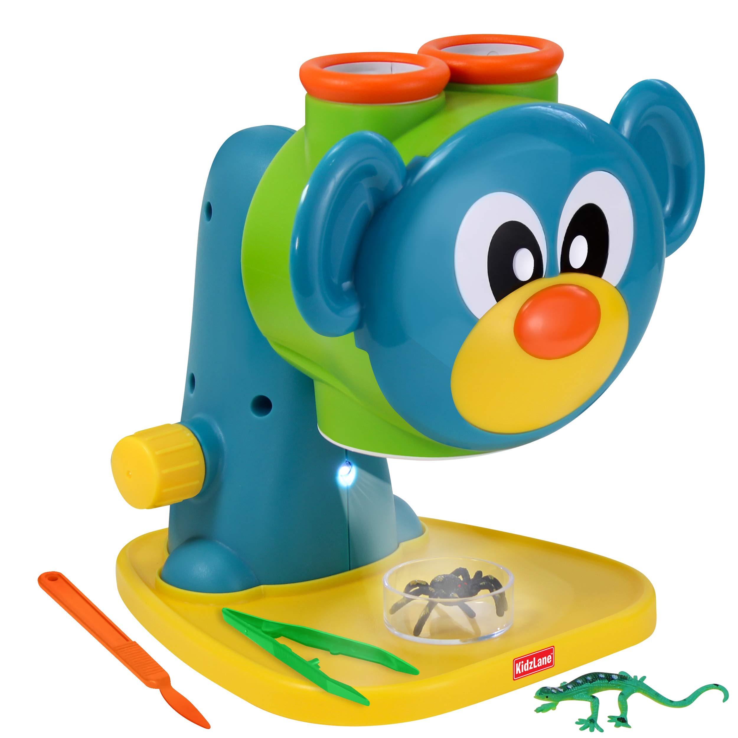 Kidzlane Microscope Science Toy for Kids - Toddler Preschool Microscope with Guide & Activity Booklet by Kidzlane