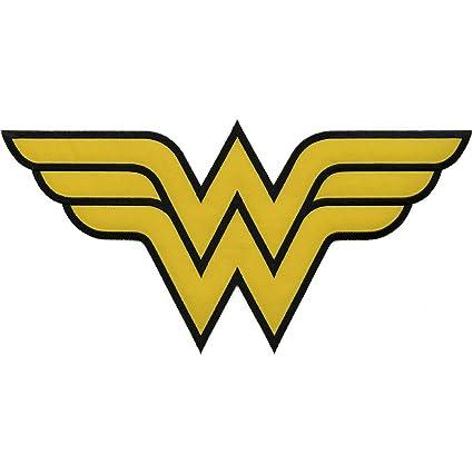 amazon com application dc comics originals wonder woman logo back rh amazon com wonder woman logo png wonder woman logo printables
