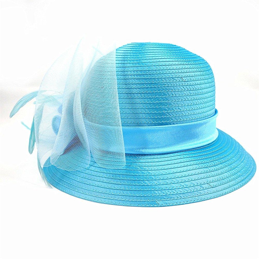 Shuo lan hu wai Der Hut der Frauen Frühling und Sommer des Stoffhutes Dame Hat Blau Tourism Anti-wear Hat.