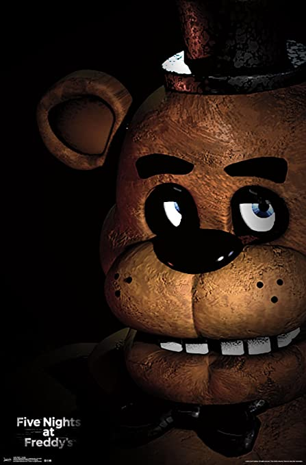 amazon com trends international five nights at freddy s freddy wall