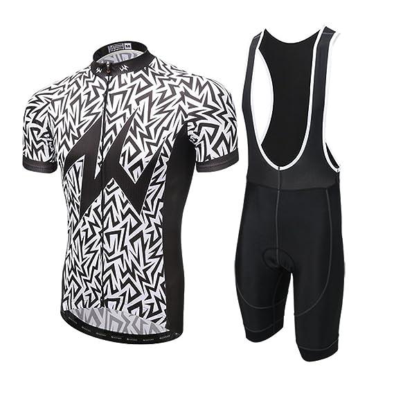 0eb9b4416f8f8 YOUJIA Outdoor Imprimé Combinaison de Cycliste Haut Jersey Maillots à  Manches Courtes + 3D Rembourré Pantalon Shorts  Amazon.fr  Vêtements et  accessoires
