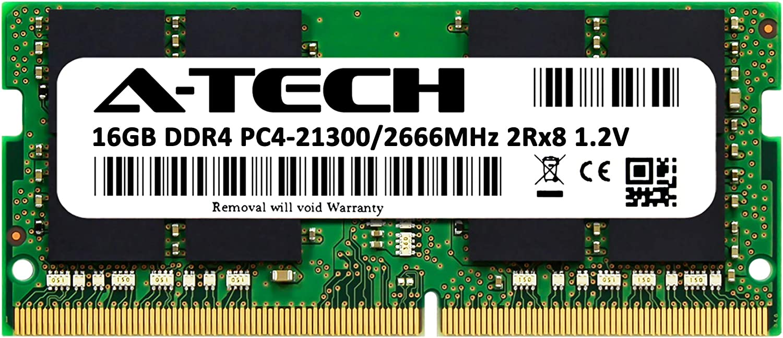 A-Tech 16GB DDR4 2666MHz RAM for Apple 2019 & 2020 iMac 27 inch (iMac19,1 iMac20,1 iMac20,2), 2018 Mac Mini   PC4-21300 SO-DIMM 260-Pin Memory Upgrade Module