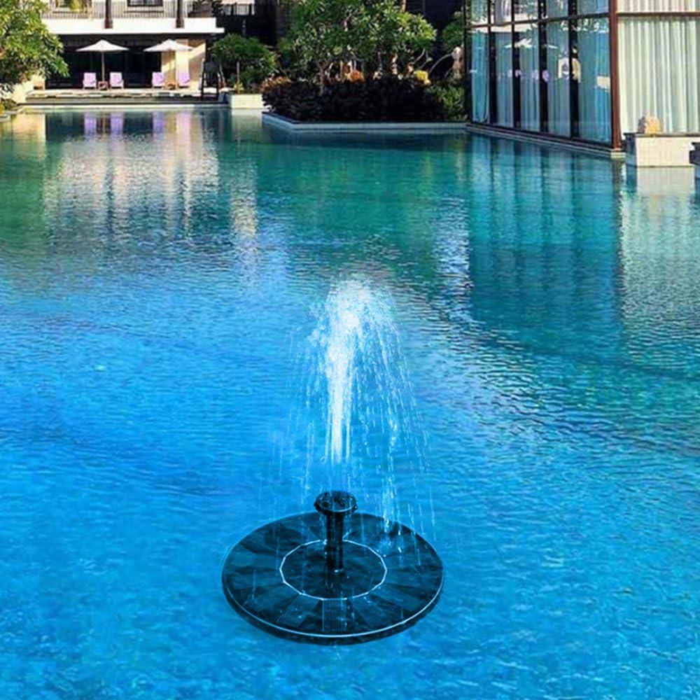 Pool Garden Solar Floating Fountain,ADSRO 7V//1.4W Small Fountain Water Pump Garden Plant Watering Power Fountain Pond for Pond Aquarium