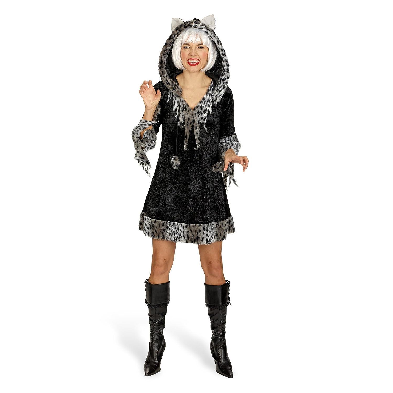 Elbenwald Kitten – Disfraz de Mujer – Mini Vestido con Capucha ...